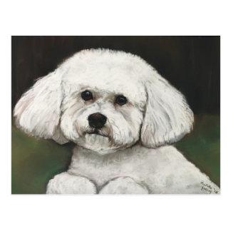 Bichon Frise Original Dog Art Postcard