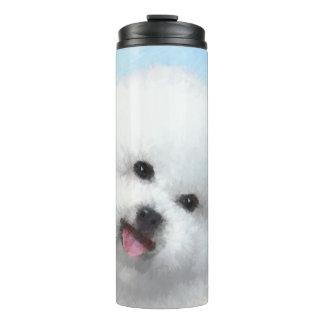 Bichon Frise Painting - Cute Original Dog Art Thermal Tumbler