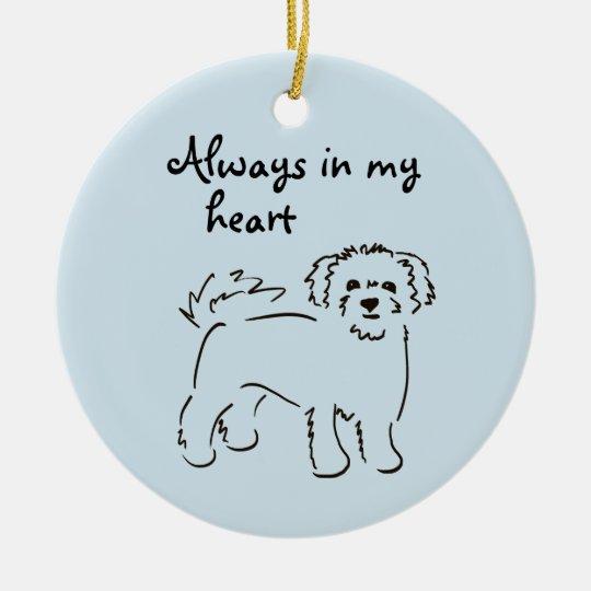 Bichon Frise Personalised Pet Memory Christmas Ornament