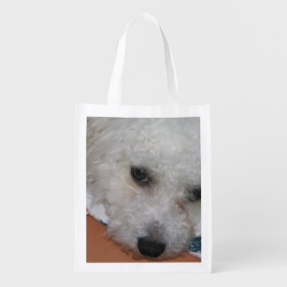 Bichon Frisé.png Reusable Grocery Bag