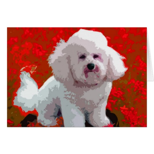 Bichon Frise Pop Art Cards