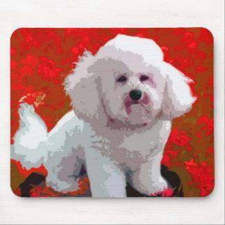 Bichon Frise Pop Art Mousepad