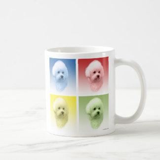 Bichon Frise Pop Art Coffee Mugs