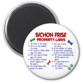 BICHON FRISE Property Laws 2 6 Cm Round Magnet
