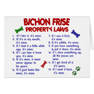 BICHON FRISE Property Laws 2 Card