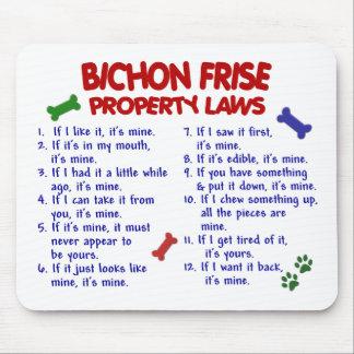 BICHON FRISE Property Laws 2 Mouse Mat