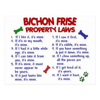 BICHON FRISE Property Laws 2 Post Card
