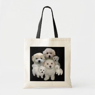 Bichon Frise Puppies Tote Bag