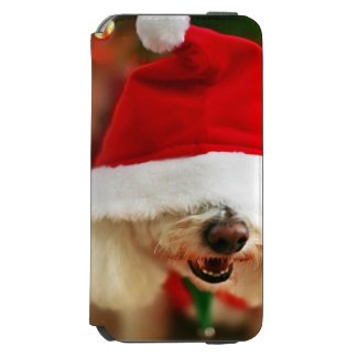 Bichon Frise puppy wearing Santa costume Incipio Watson™ iPhone 6 Wallet Case