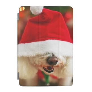 Bichon Frise puppy wearing Santa costume iPad Mini Cover