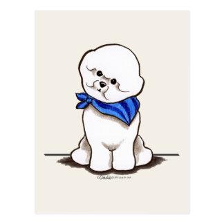 Bichon Frise Sailor Boy Blue Postcards