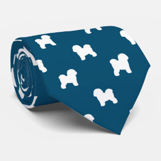 Bichon Frise Silhouettes Pattern Tie