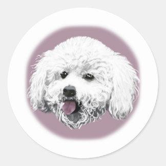 Bichon Frise Round Stickers