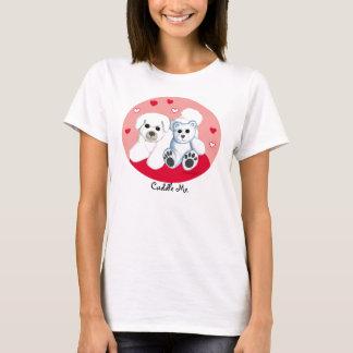 Bichon Frise & Teddy Bear Hearts T-Shirt