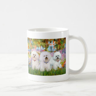 Bichon Frise Trio - Garden (VG) Basic White Mug