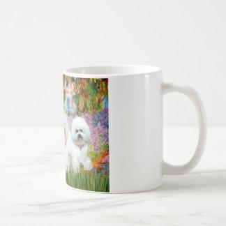 Bichon Frise Trio - Garden (VG) Classic White Coffee Mug