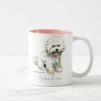 Bichon Frise Two-Tone Coffee Mug