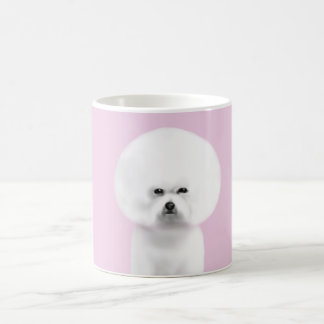 Bichon Frise white & powder pink Mug