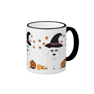 Bichon Frise Witch Halloween Mug