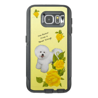 Bichon Frise, with Yellow Roses OtterBox Samsung Galaxy S6 Case