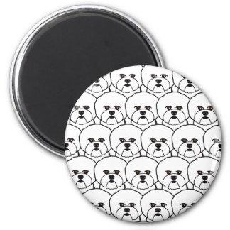 Bichon Frises 6 Cm Round Magnet