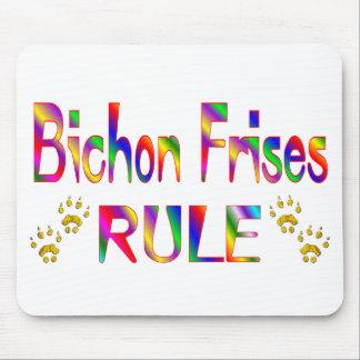 Bichon Frises Rule Mouse Mat