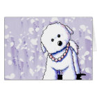 Bichon In Pearls Note Card