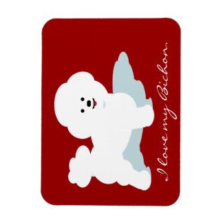 Bichon Love Magnets in Red