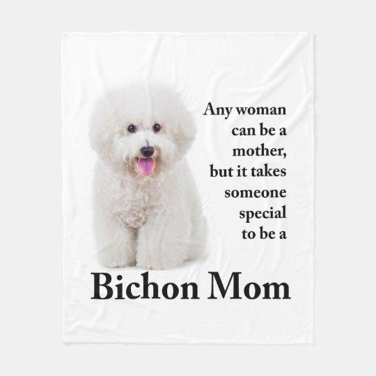 Bichon Mum Fleece Blanket