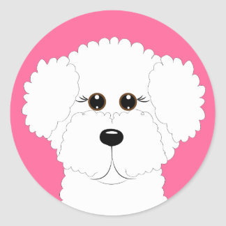 Bichon Puppy Classic Round Sticker