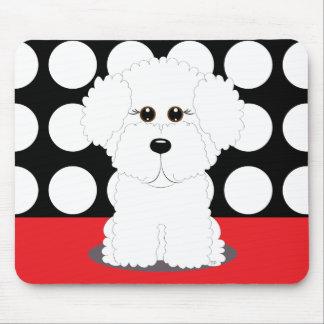 Bichon Puppy Mouse Mat