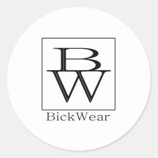 Bick Wear Logo Round Sticker, Matte Round Sticker