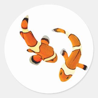 Bickering Clownfish Classic Round Sticker
