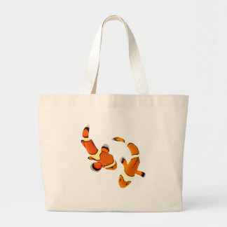 Bickering Clownfish Large Tote Bag