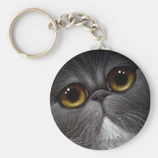 BICOLOR PERSIAN CAT Keychain