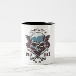 Bicolored mug Skull Urban Flock