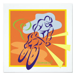 Bicycle 13 Cm X 13 Cm Square Invitation Card