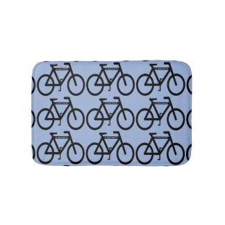 Bicycle Abstract Bath Mats