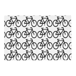 Bicycle Abstract Laminated Placemat