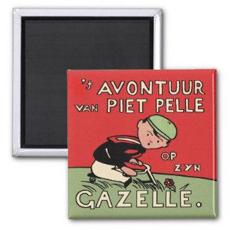 Bicycle Adventures of Piet Pelle Fridge Magnet