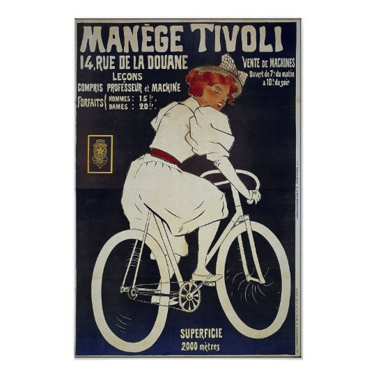 Bicycle Advertising Vintage Manage Tivoli Poster