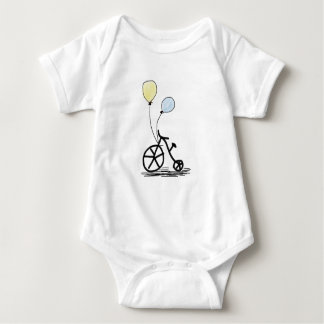 Bicycle and balloons baby bodysuit