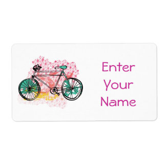 Bicycle and Floral Background