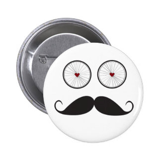 Bicycle and Mustache Button