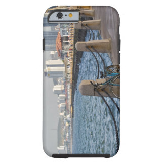 Bicycle at waterfront with Yantai city skyline, Tough iPhone 6 Case