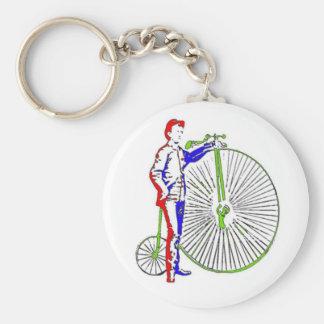 Bicycle Basic Round Button Key Ring