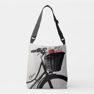 Bicycle Basket of Flowers Cross Body Bag