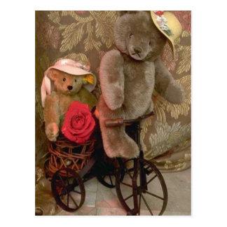 Bicycle bear postcard