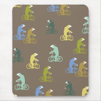 Bicycle Bears Mousepad