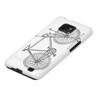 Bicycle Blueprint Galaxy S2 Cover